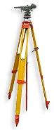 K&E Paragon Tilting Level with Kern centering tripod and plumb rod